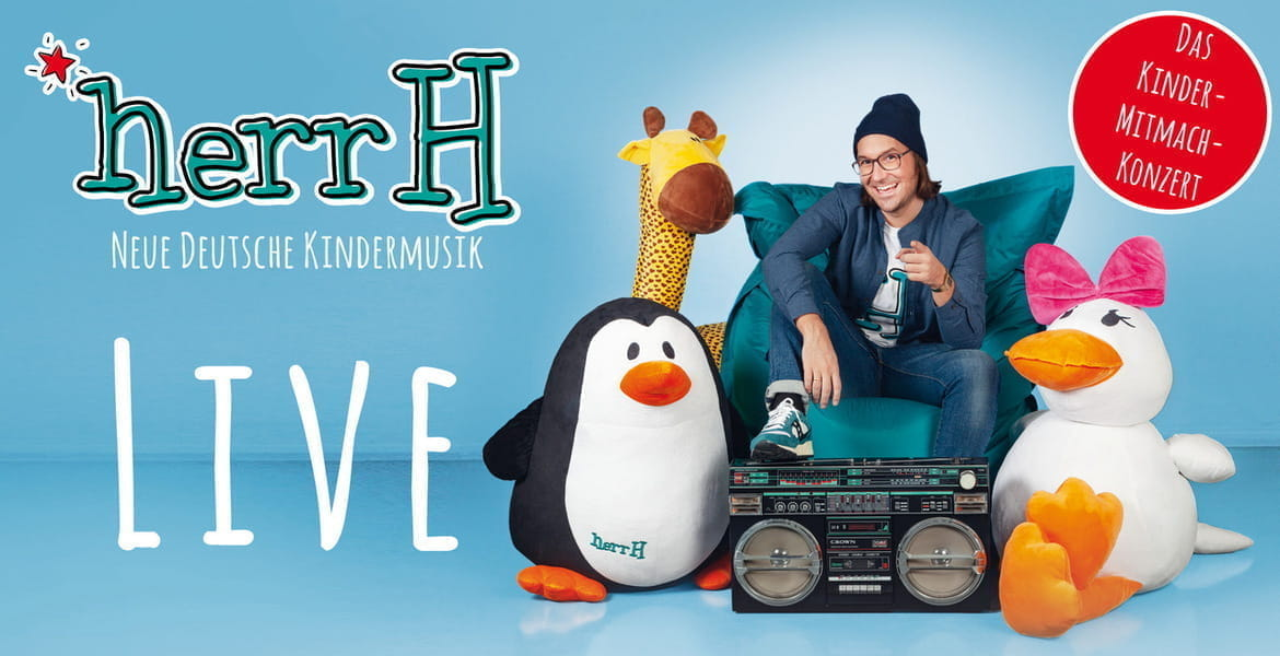 Tickets herrH, Neue Deutsche Kindermusik – Live 2019 & 2020 in Darmstadt